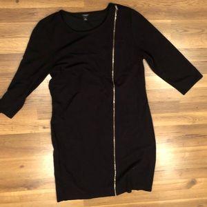 Ann taylor ponte dress black size 16